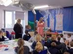 Jessica Roberts and Harmony Hendrick present lessons at Brant Broughton Primary.