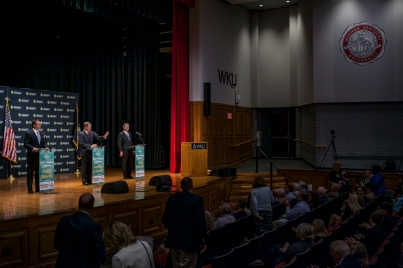 Republican candidates for governor participated in a debate April 29 at Downing Student Union Auditorium.