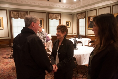 Huda Melky's retirement reception was held April 30 at the Kentucky Building.