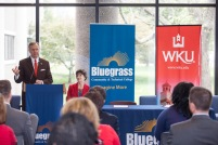 WKU and Bluegrass Community and Technical College signed a joint admissions agreement on May 5.