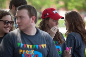 Centennial Mall has hosted numerous events as the semester winds down.