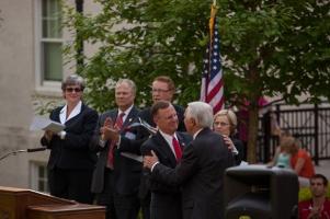 WKU President Gary Ransdell and Gov. Steve Beshear