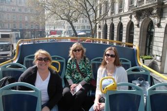 Jessica Roberts, Dr. Kay Gandy and Harmony Hendrick in London.