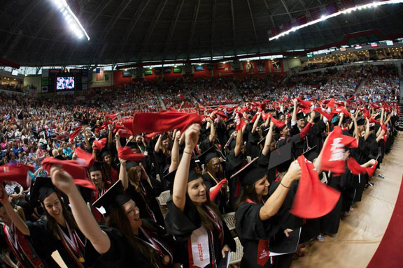 WKU's Class of 2015 celebrated during Commencement ceremonies on May 16 at Diddle Arena. (WKU photo by Clinton Lewis)