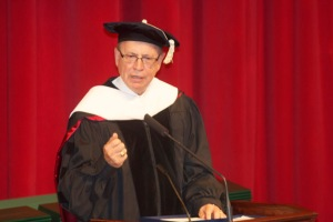 Speaker Pro Tem Jody Richards delivered commencement remarks for The Gatton Academy graduation on May 16. (WKU photo by Bob Skipper)