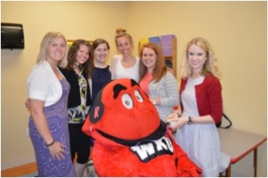 Big Red participated in the campus-wide hearing screenings on May 7.