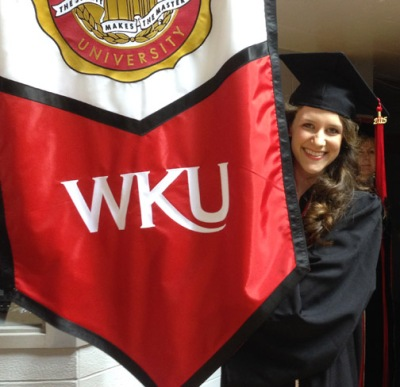 Sarah Fox was recognized as the 2015 Ogden Foundation Scholar Award recipient. (WKU photo by Clinton Lewis)