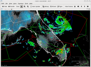 Sample data output from AWIPS II. Source: Unidata