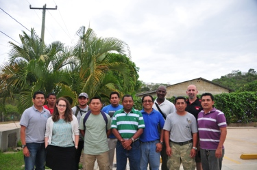 FCD staff and WKU faculty participants from the karst management training workshop held in San Jose Succotz, Belize.