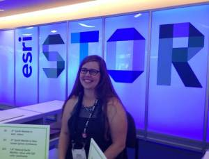 WKU student Ellen Barringer was selected for an Esri assistantship at the San Diego conference.