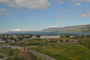 The view from the Icelandic Arctic Cooperation Network office located in Akureyri, Iceland.