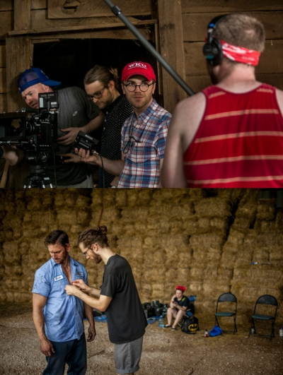 Production of 'Woodshed' was under way July 13 in the Rich Pond community. (WKU photos by Bryan Lemon)