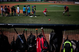 Summer youth baseball camps were held in June and July.