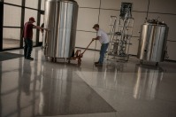 Brewery equipment was delivered June 10 to WKU's Center for Research and Development.