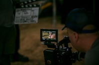 """Several WKU faculty, students and alumni worked on a short film """"Woodshed"""" in July."""