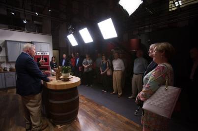 As part of the retreat, members of the WKU Board of Regents toured WKU PBS studios.
