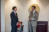 President Gary Ransdell thanked J. David Porter for his service as Chair of WKU's Board of Regents.