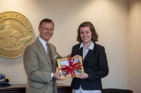 WKU President Gary Ransdell thanked Nicki Taylor for her service as student regent.