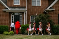 President Gary Ransdell, Big Red, WKU cheerleaders and others delivered admissions acceptance letters to members of the Class of 2020 on Aug. 10.