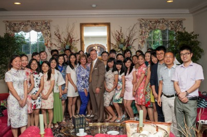 WKU President Gary Ransdell welcomed Confucius Institute Chinese teachers on Aug. 13.