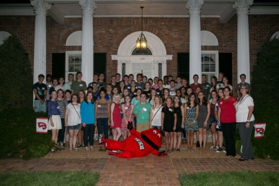 Gatton Academy juniors attended a picnic at the President's Home on Aug. 17.