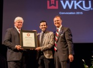 WKU sophomore Salvador Hernandez was the student recipient of the 15th annual President's Award for Diversity.
