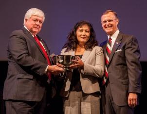 Dr. Martha Day, associate professor, School of Teacher Education, received the University Award for Student Advisement.