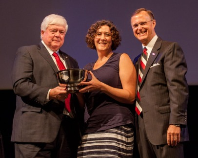Dr. Alison Langdon, associate professor, Department of English, received the University Award in Teaching.