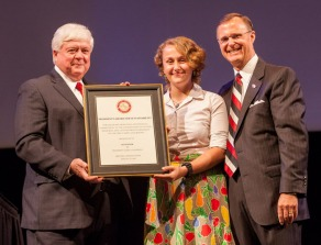 WKU senior Alex Hezik was the student recipient of the 5th annual President's Award for Sustainability.