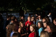 WKU President Gary Ransdell hosted Honors College first-year students for an ice cream social on Aug. 24.