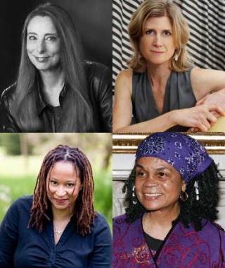 Featured presenters at the Kentucky Women Writers Conference include (top row from left) Ann Beattie and Emily Bingham (bottom row from left) Jacinda Townsend and Sonia Sanchez. Several sessions from the Sept. 11-12 conference will be livestreamed at WKU's Cravens Library.