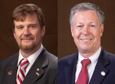 Dr. Gordon Emslie (left) is stepping down as WKU's Provost and Vice President for Academic Affairs. Dr. David Lee (right) has been appointed to serve in the position for a two-year term.