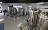More brewery equipment was installed Sept. 9 at WKU's Center for Research and Development.