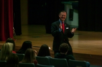 WKU President Gary Ransdell is visiting area high schools.