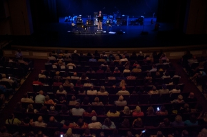 Dr. David Lee introduced Sam Bush who performed Sept. 12 as part of the Cultural Enhancement Series.
