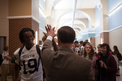WKU President Gary Ransdell continued his visits to area high schools.