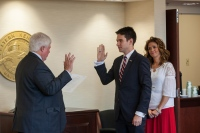 Jay Todd Richey was sworn in Sept. 25 as Student Regent.