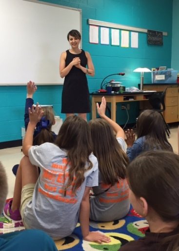 Sara Volpi talked with the Thursday Academy students about how to create a book and the SOKY Book Fest event to be held in April 2016.