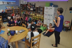 Sara Volpi talked with the Tuesday Academy students about how to create a book and the SOKY Book Fest event to be held in April 2016.