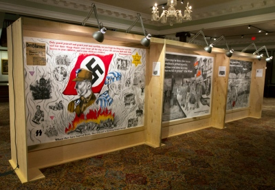 Eighteen murals depicting scenes from the Holocaust are on display at the Kentucky Museum through Nov. 5. The murals have been made by students in the Summer Program for Verbally and Mathematically Precocious Youth (VAMPY), held by The Center for Gifted Studies, since the early 1990s.