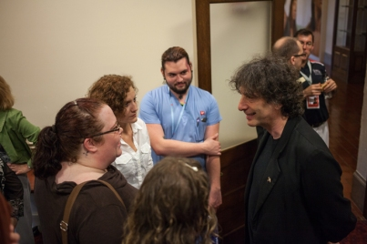 Author Neil Gaiman visited WKU on Oct. 6 as part of the Cultural Enhancement Series.