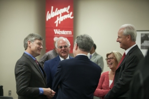 WKU Glasgow hosted a reception for Provost David Lee on Oct. 14.