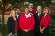 From left: Sally Ray, Regional Chancellor of WKU Glasgow; Brad Kissell, Director of Adult & Regional Campuses Enrollment; Evelyn Ellis, Regional Chancellor of WKU Elizabethtown-Fort Knox; Dennis George, Associate Provost for Regional Higher Education; Gene Tice, Regional Chancellor of WKU Owensboro; Heather Garcia, Marketing Manager, Regional Campuses.