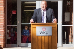 A ceremony was held Oct. 20 as the WKU Child Care Center was renamed the Colleen B. Mendel Child Care Center.