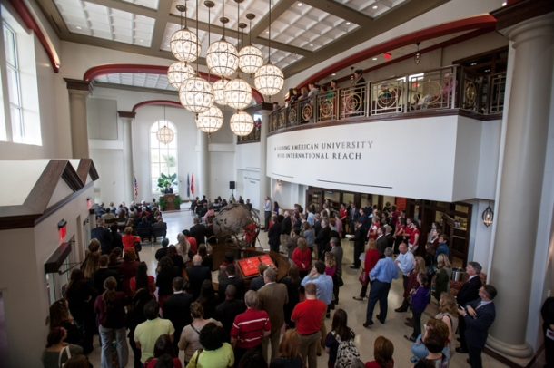 WKU dedicated the Honors College/International Center on Oct. 23. (WKU photo by Clinton Lewis)