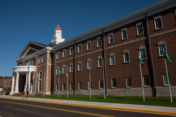 WKU will dedicate the Honors College/International Center on Oct. 23. (WKU photo by Clinton Lewis)