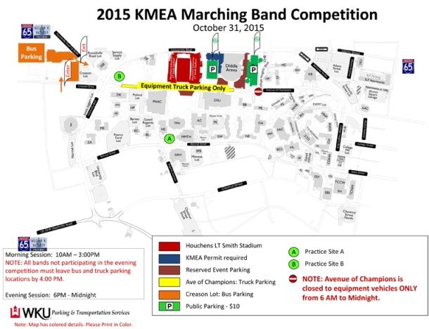 kmea marching band map
