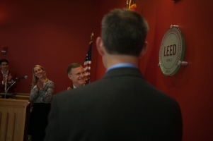 WKU and the U.S. Green Building Council conducted a ceremony Oct. 28 to recognize three buildings that have achieved LEED certification.