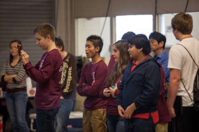 The Department of Engineering hosted a high school robotics competition on Nov. 7.
