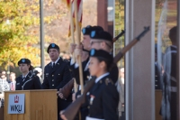WKU ROTC hosted a wreath-laying ceremony on Veterans Day.